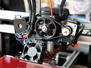 Itty Bitty Double FLEX Extruder (with mount for MakerFarm Printers)