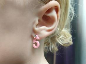 Birthday Number Earrings