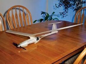 Fully 3D printed modular RC Sailplane.