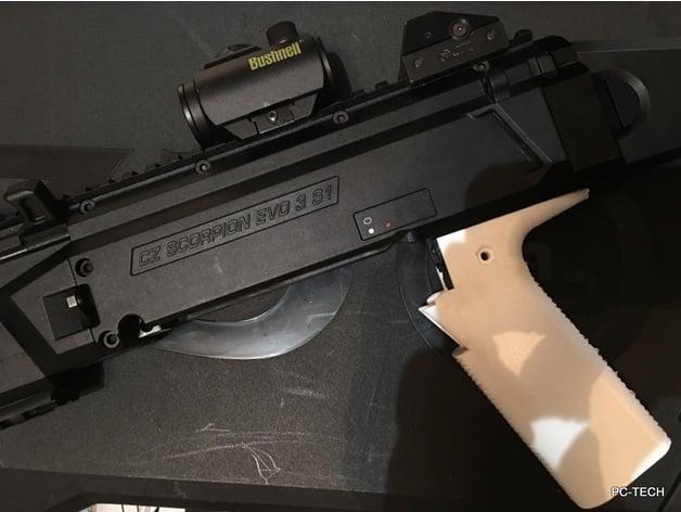 CZ Scorpion EVO S1 Grip by pc-tech - Thingiverse
