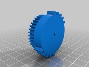 Nerf Stampede Flywheel conversion gear
