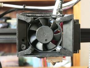 Ender 3 polyvalent hot end fan mount / pen holder