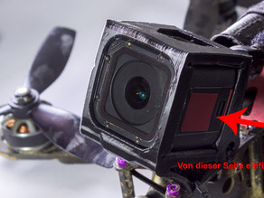 "GoPro Hero 5 Session and GoPro Hero 4 Session Superview Mount 30° for Zmr250, Alien 5"", QAV-R, Warp quad, whatever"