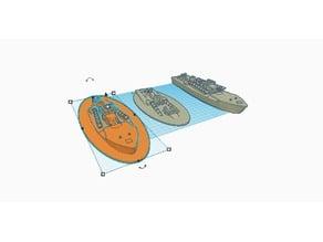 Sinking Vosper MTB 1-100 scale