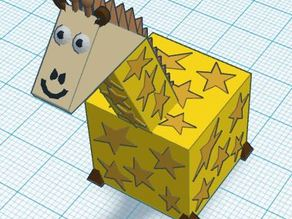 3d Block Zoo Giraffe
