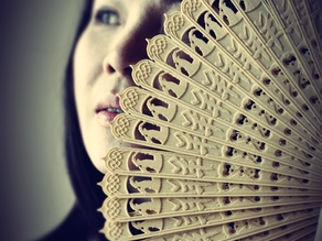 3D Printed Chinese Oriental Folding Fan (No Assembly Required)