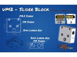 UM2 Cross Slider Block for 8mm linear rods