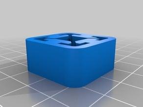 20x20mm aluminium extrusion end cap (foot)