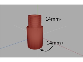 Airsoft - Barril Extend 14mm-/14mm+