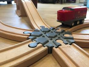 Wooden train track intersection : 6 ways (Brio / Ikea ...)