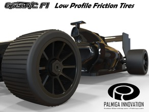Low Profile Friction Tires for OpenR/C F1 car
