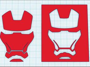 Iron Man - Face Stencil