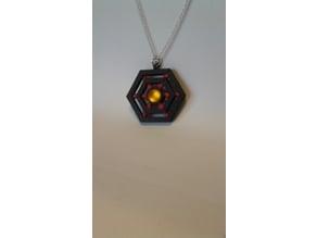 Diamond pendant or spider web