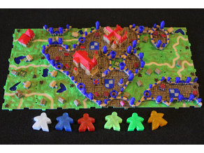 Rifraf 3D Carcassonne Expansion 1 Inns & Cathedrals