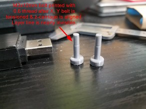 Raiscube Z-axis (X carriage) aligment posts