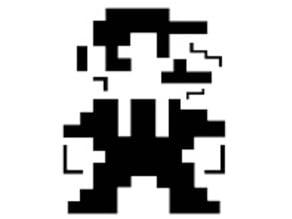 8 Bit Mario stencil