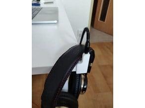 Tiny headphones holder for desk corner