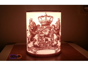 Wapen Van Nederland (Coat Of Arms Of The Netherlands) Lithophane Lamp
