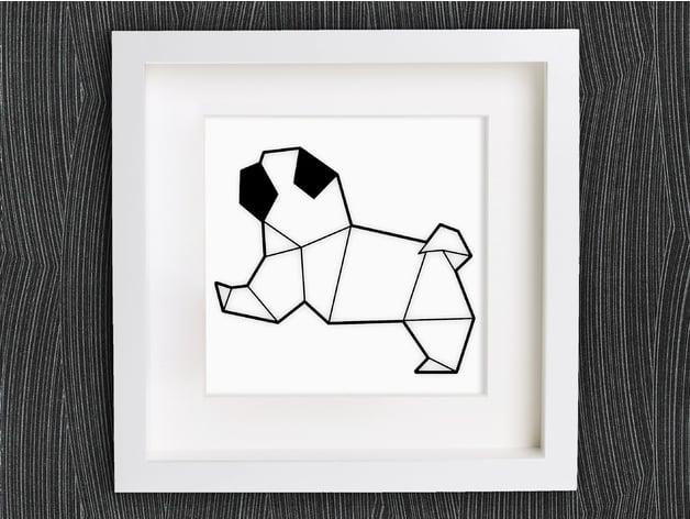 Origami 】Pug | Origami design, Origami, Origami art | 472x628