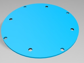 Base Plate for fusion quad with extra Flight Controller Mount Holes
