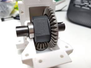 Modified Front/Rear Differential Housing for OpenRC Truggy
