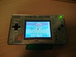 2 Button Game Boy Macro Flat Faceplate (DS Lite)