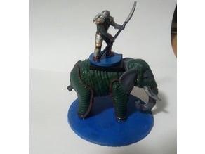 """Armoured Elephant - 3"""" base"""