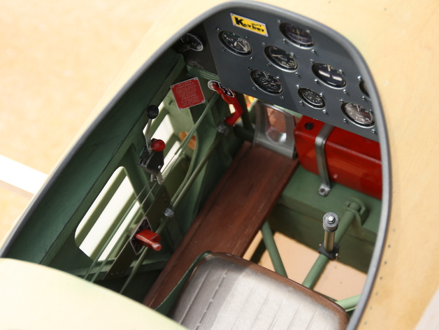 PT-17 Boeing Stearman Cockpit for 1/3 scale Balsa USA kit by