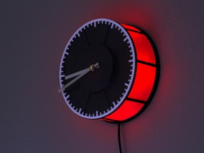 Filament Spool Clock With RGB Lighting
