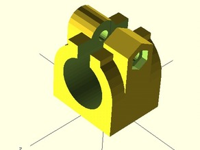 Impoved TFZB/JZB/LMxUU/LMxLUU configurable clamp holder