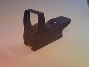 Holographic red dot reflex sight