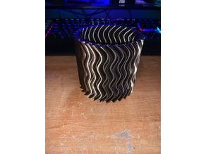 Waved Sawblade Pencil Cup Holder Vase