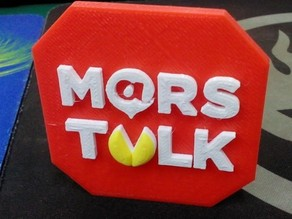 3D Logo Plate - Mars Talk
