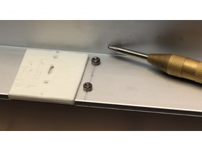 """Jig for laying out holes at 0.5 and 1.5"""" from edge"""