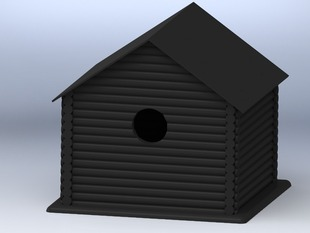Log Cabin Birdhouse