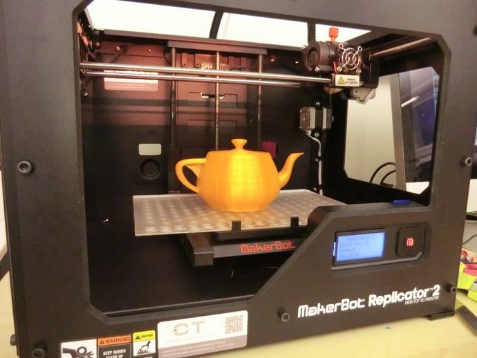 FFF 3D-printable Utah Teapot with separate lid