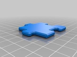 Checkerboard Puzzle Piece
