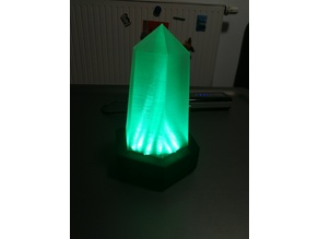 Crystal Lamp (Google Home / Alexa - Voice controlled via Blynk + IFTTT)