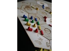 Settlers of Catan laser-cut boardgame