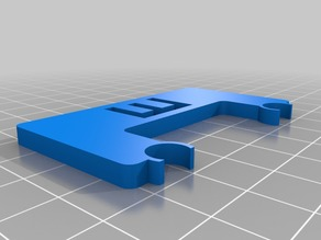 X axis endstop stopper 8mm rails 4mm thickness