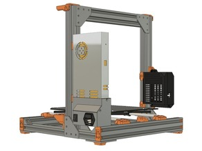 Prusa MK2/MK2S/MK2.5/MK3 Arduino MEGA 2560 RAMPS Enclosure for VSLOT 2020