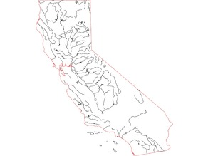 Detailed Map of California