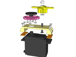 Dasaki compact servo 1:2 (2x) multiplier gearbox