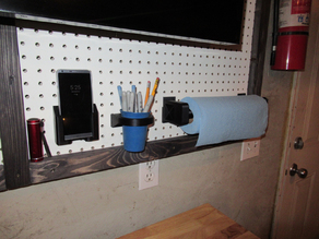 Pegboard cup holder