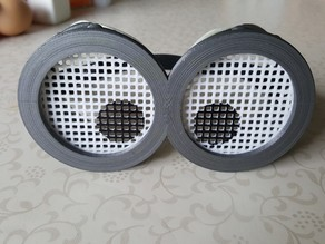 Grid lenses for Minion goggles Improved