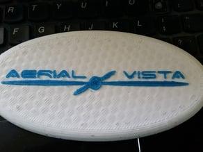 Aerial Vista Logo Plaque