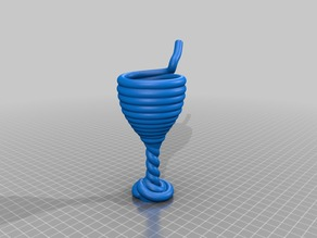 Spiraled drinking straw cup