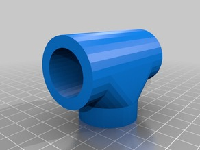 """PVC pipe 3/4"""" T Joint"""