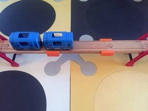 Wooden Train Track Coupler