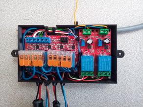 Boite relais 12V moto V2 (Couplage Temporisé avec Plein Phare)
